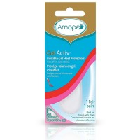 Amope GelActiv Invisible Gel Heel Protectors for Women, Size 5-10, 1 pair